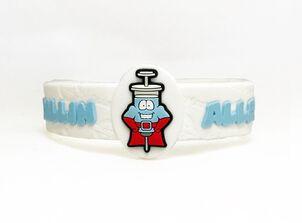 AllerMates Children's Allergy Alert Bracelet - Penicillin