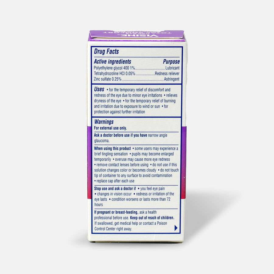 Visine Red Eye Total Comfort Multi-Symptom Eye Drops, 0.5 fl. oz, , large image number 1