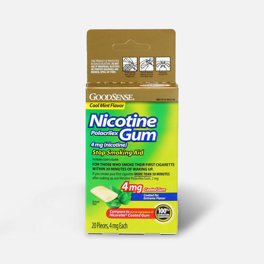 GoodSense® Nicotine Polacrilex Gum 4 mg (nicotine), Mint, Coated, 20 ct, , large image number 0