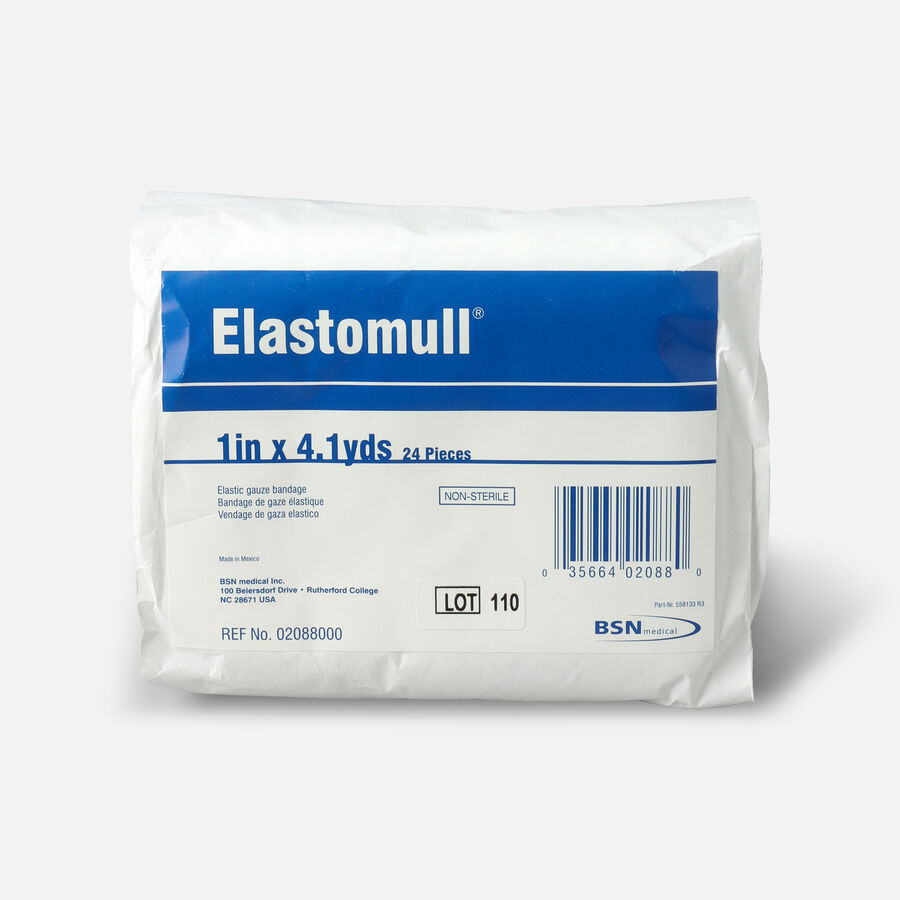 """Elastomull Cotton Conforming Bandage, NonSterile, White, 1"""" x 4.1 yds - 24ct, , large image number 0"""