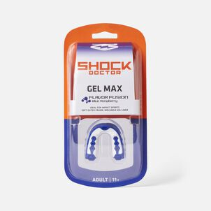 Shock Doctor Gel Max Flavor Fusion Mouth Guard, Blue Raspberry