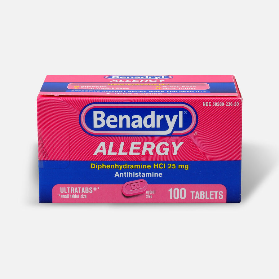 Benadryl Ultra Allergy Relief Tablets, 100 ct, , large image number 0