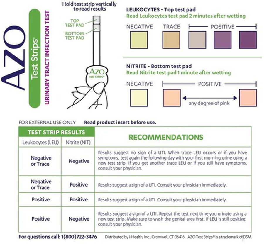 Azo Urinary Tract Infection Test Strips with Handle, 3 ct, , large image number 2