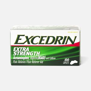 Excedrin Extra Strength Caplets, 100 ct