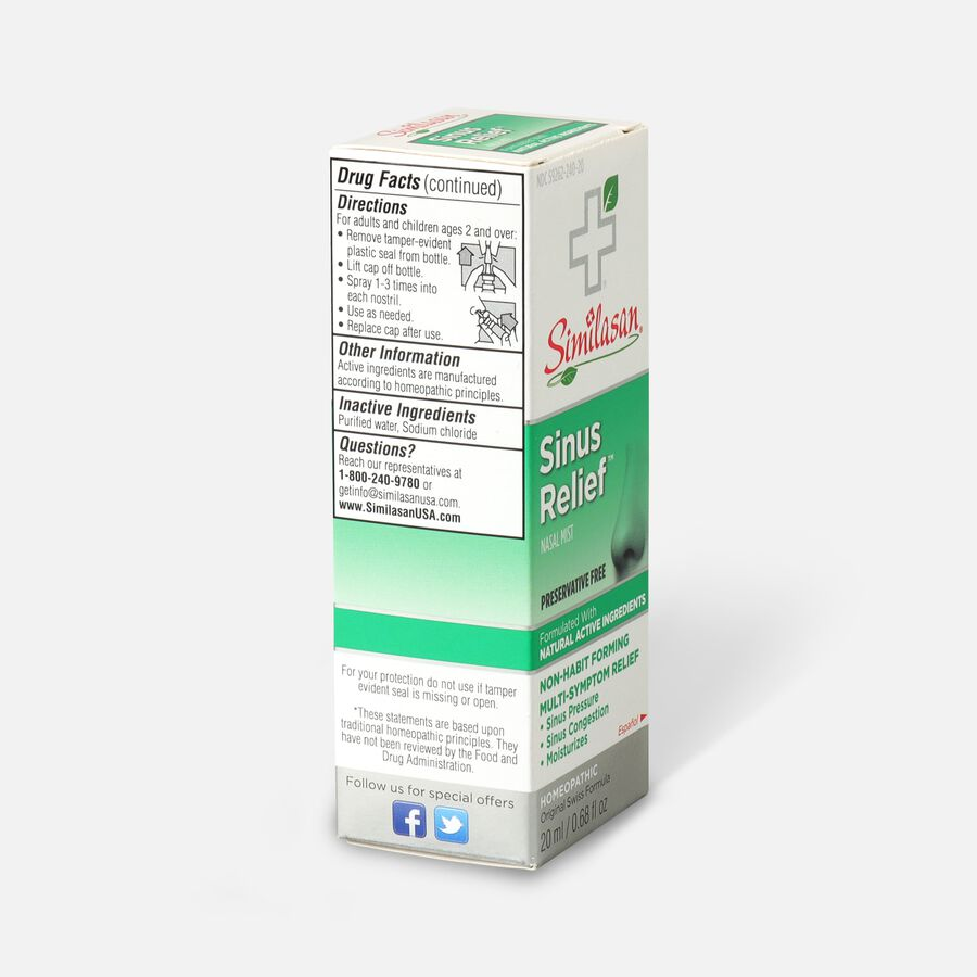 Similasan Sinus Relief, preservative free, 0.68 fl. oz., , large image number 2