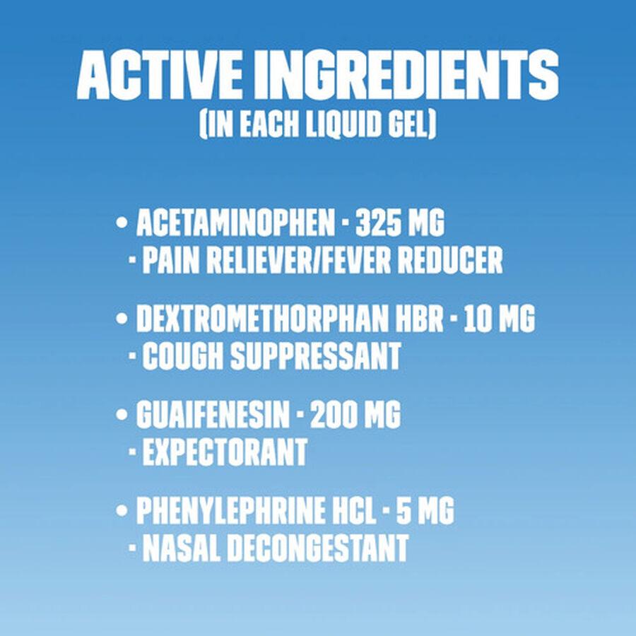 Mucinex Fast-Max Liquid Gels Cold and Flu, 16 ct, , large image number 3