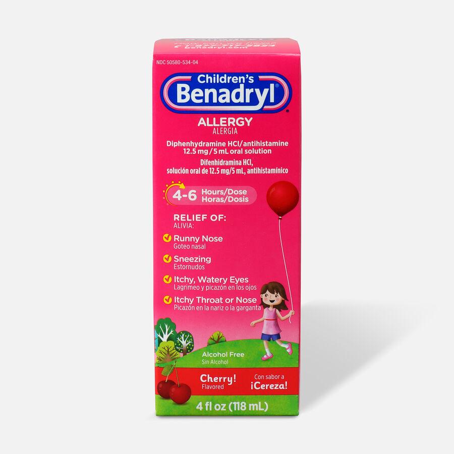 Children's Benadryl Cherry flavored Allergy 4 fl oz, , large image number 0