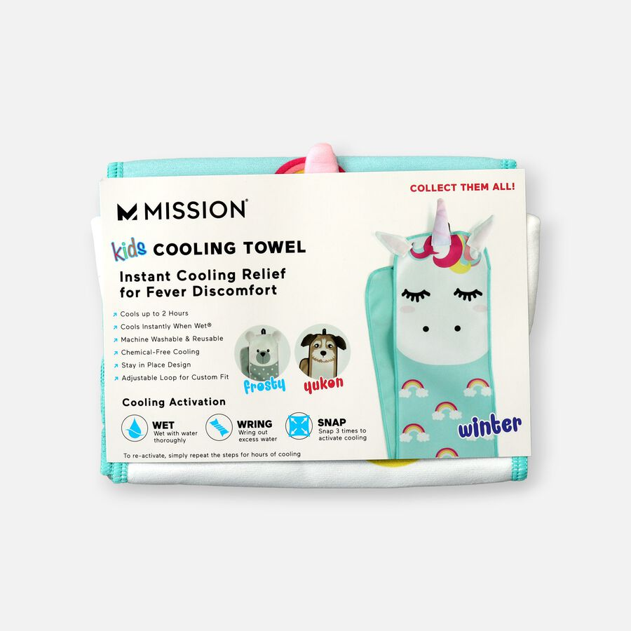 Mission Kid's Fever Relief Cooling Towel - Winter The Unicorn, , large image number 0