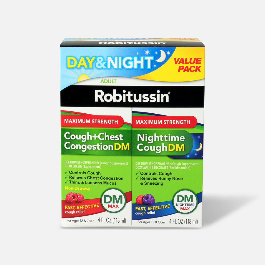 Robitussin DM MAX and DM MAX Nighttime, Value Pack, , large image number 0