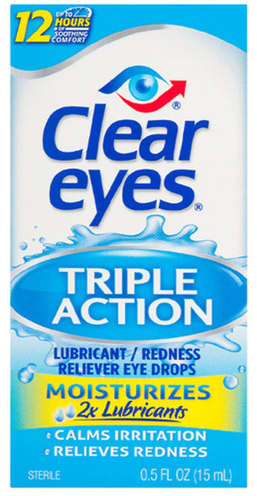 Clear Eyes Triple Action Drops, .5 oz, , large image number 0