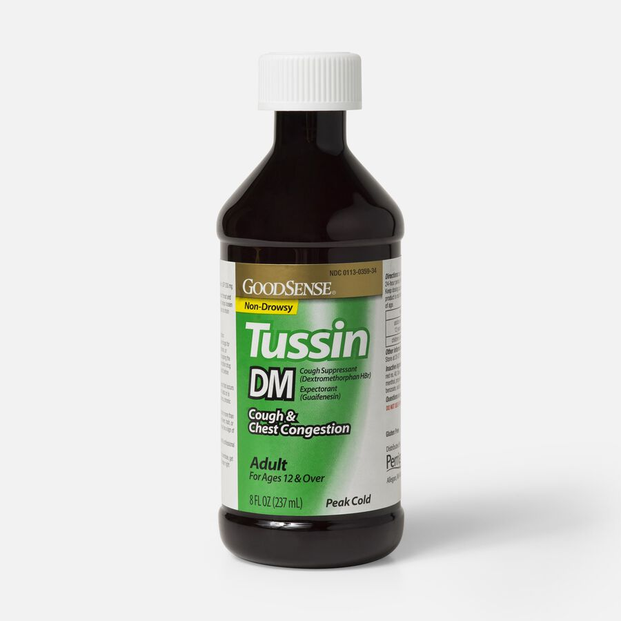 GoodSense® Tussin DM Cough Syrup 8 oz, For Children and Adults, , large image number 1