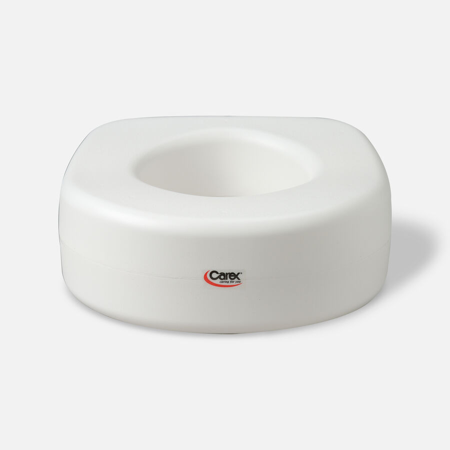 Carex Raised Toilet Seat with Blow Molded, Model: B302-C0 - 1 ea, , large image number 0