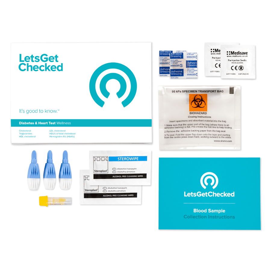 LetsGetChecked Diabetes and Heart Test, , large image number 1