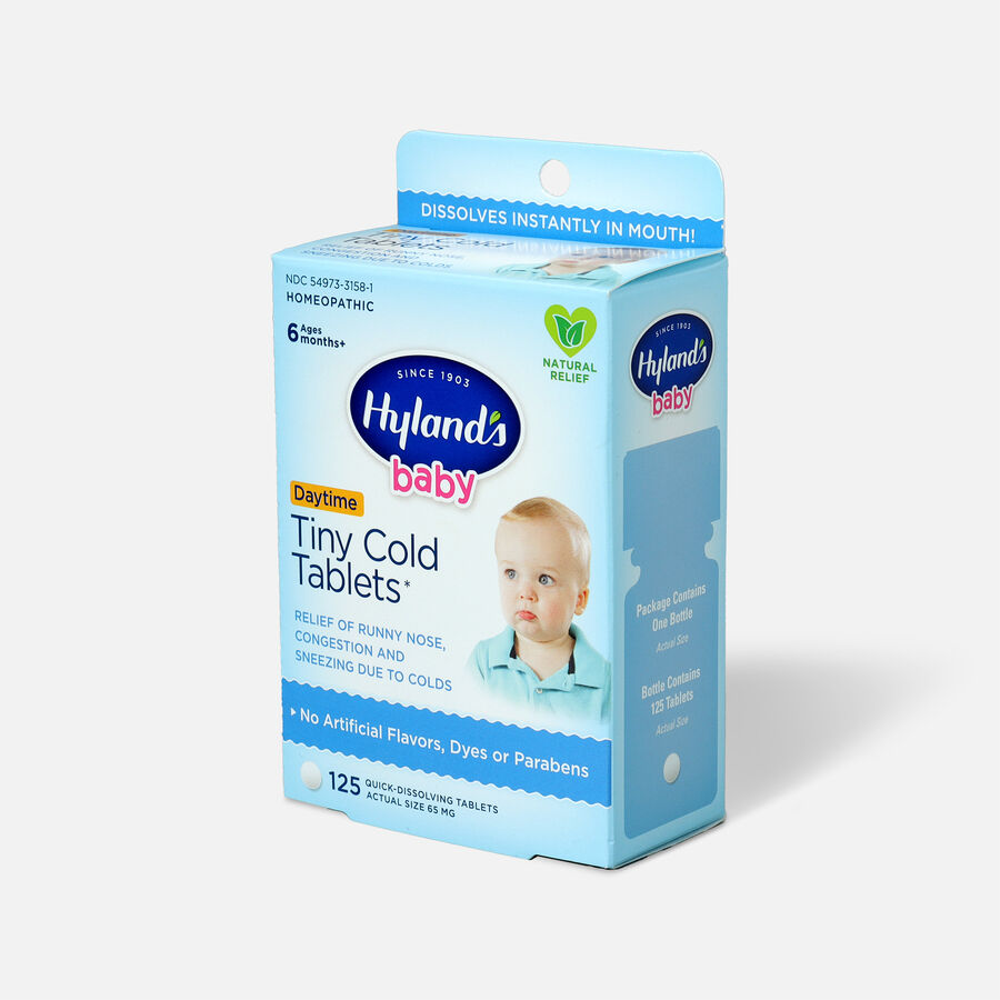 Hyland's Baby Tiny Cold Tablets, 125 ct, , large image number 2
