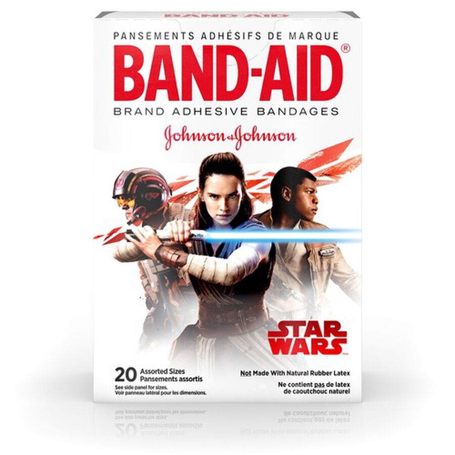 Band-Aid Adhesive Bandages, Star Wars, Assorted Sizes, 20 ct., , large image number 0