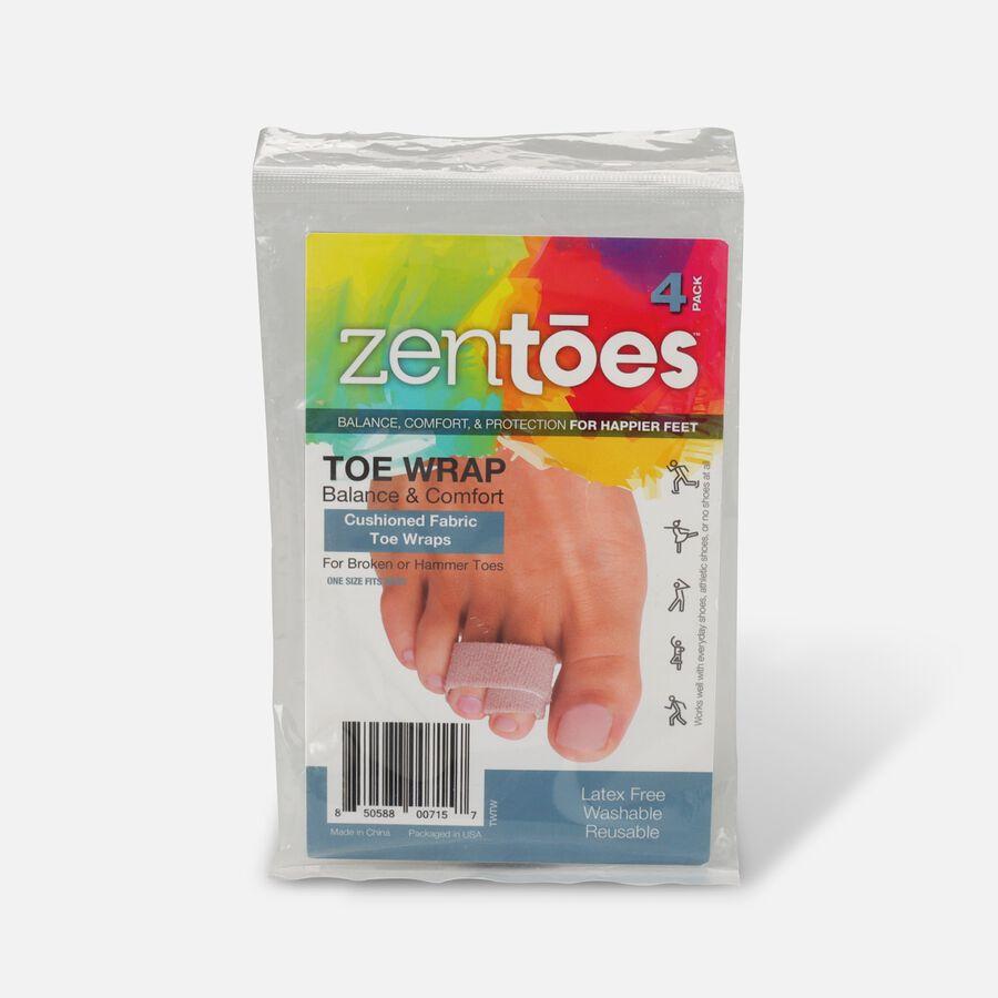 ZenToes Broken Toe Wraps Cushioned Bandages - 4 Pack, , large image number 0