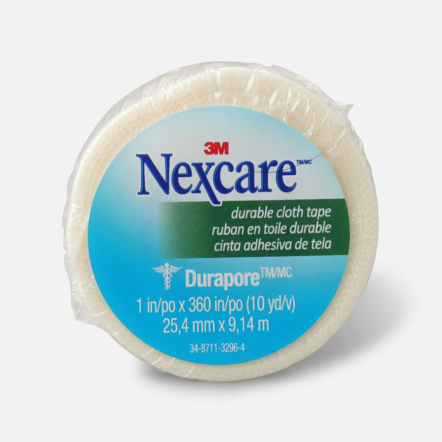 """Nexcare Durable Cloth Tape 1"""" x 10 yds. - 1ct, , large image number 0"""