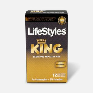 LifeStyles Latex King Condoms, 12 Count