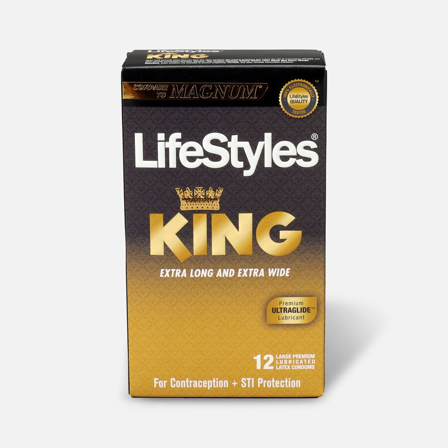 LifeStyles Latex King Condoms, 12 Count, , large image number 0