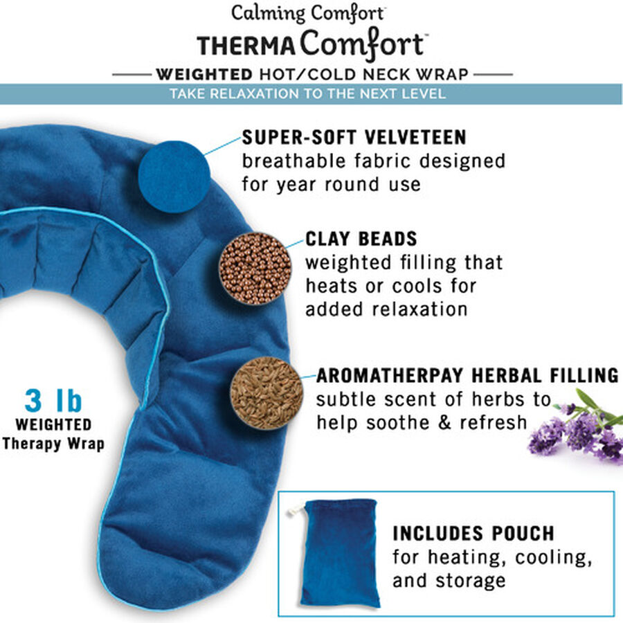 ThermaComfort™ 3 lb. Weighted Hot/Cold Neck Wrap, , large image number 5