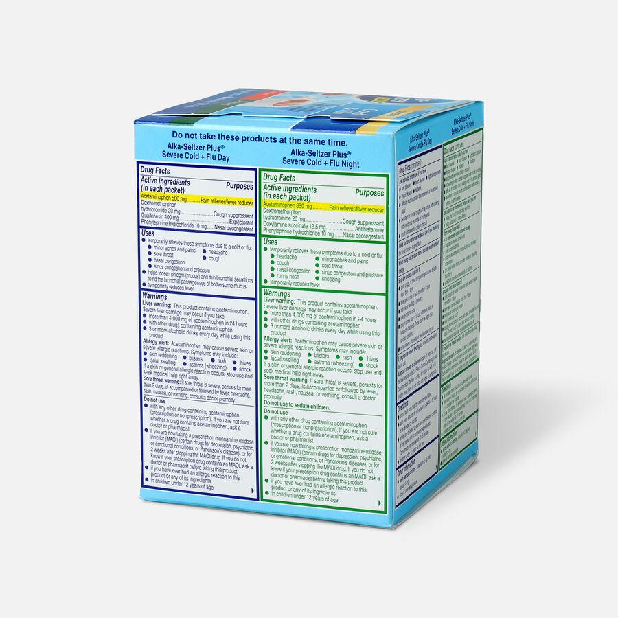 Alka-Seltzer Plus Powder - Severe Cold & Flu, Day & Night Powder Packets, Honey Lemon, 12ct, , large image number 4