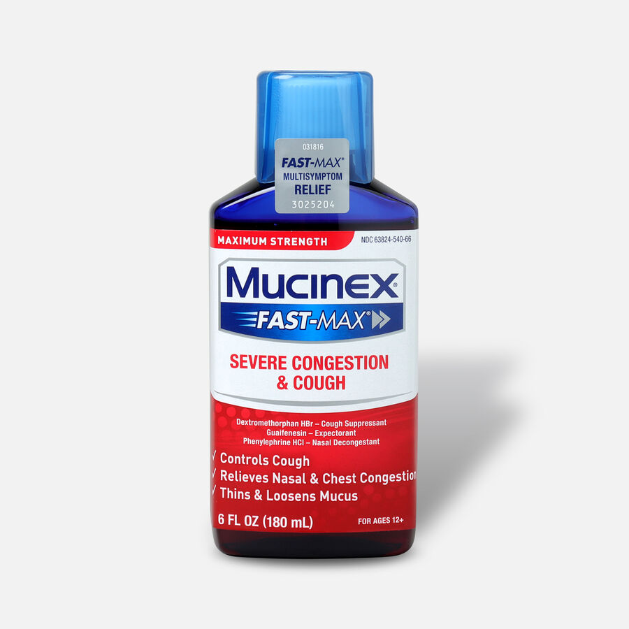 Mucinex Fast-Max Adult Liquid Severe Congestion and Cough 6 oz, , large image number 0