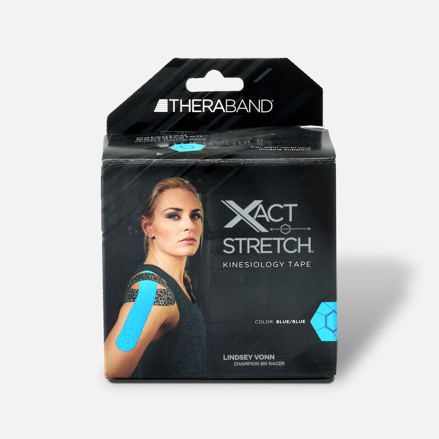 Theraband® Kinesiology Tape Precut Roll Blue/Blue, 20 ct, Blue/Blue, large image number 0
