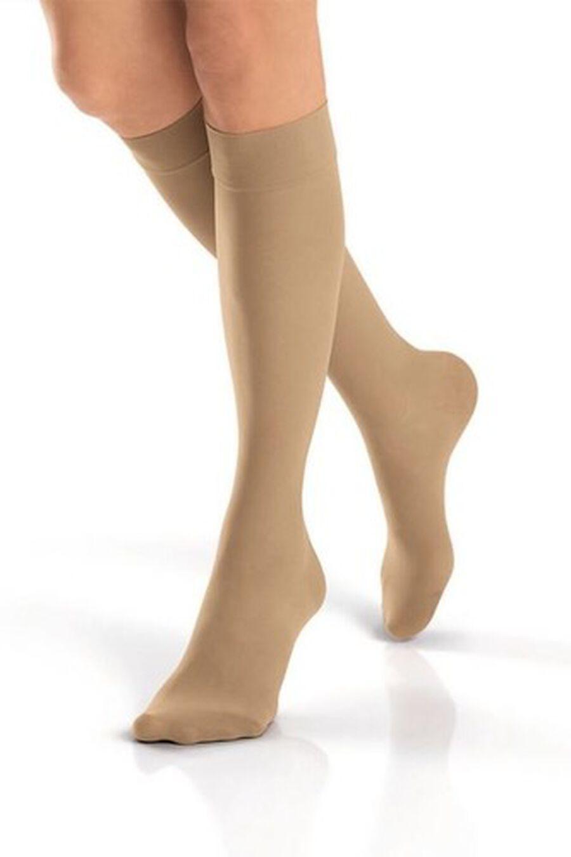 BSN Jobst Women's UltraSheer Knee-High Extra Firm Compression Stockings, Closed Toe, Medium, Suntan, , large image number 2