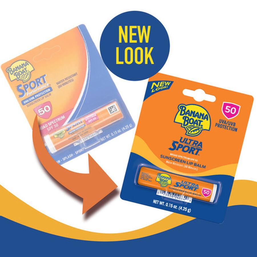 Banana Boat Ultra Sport Sunscreen Lip Balm SPF 50, 0.15oz, , large image number 3
