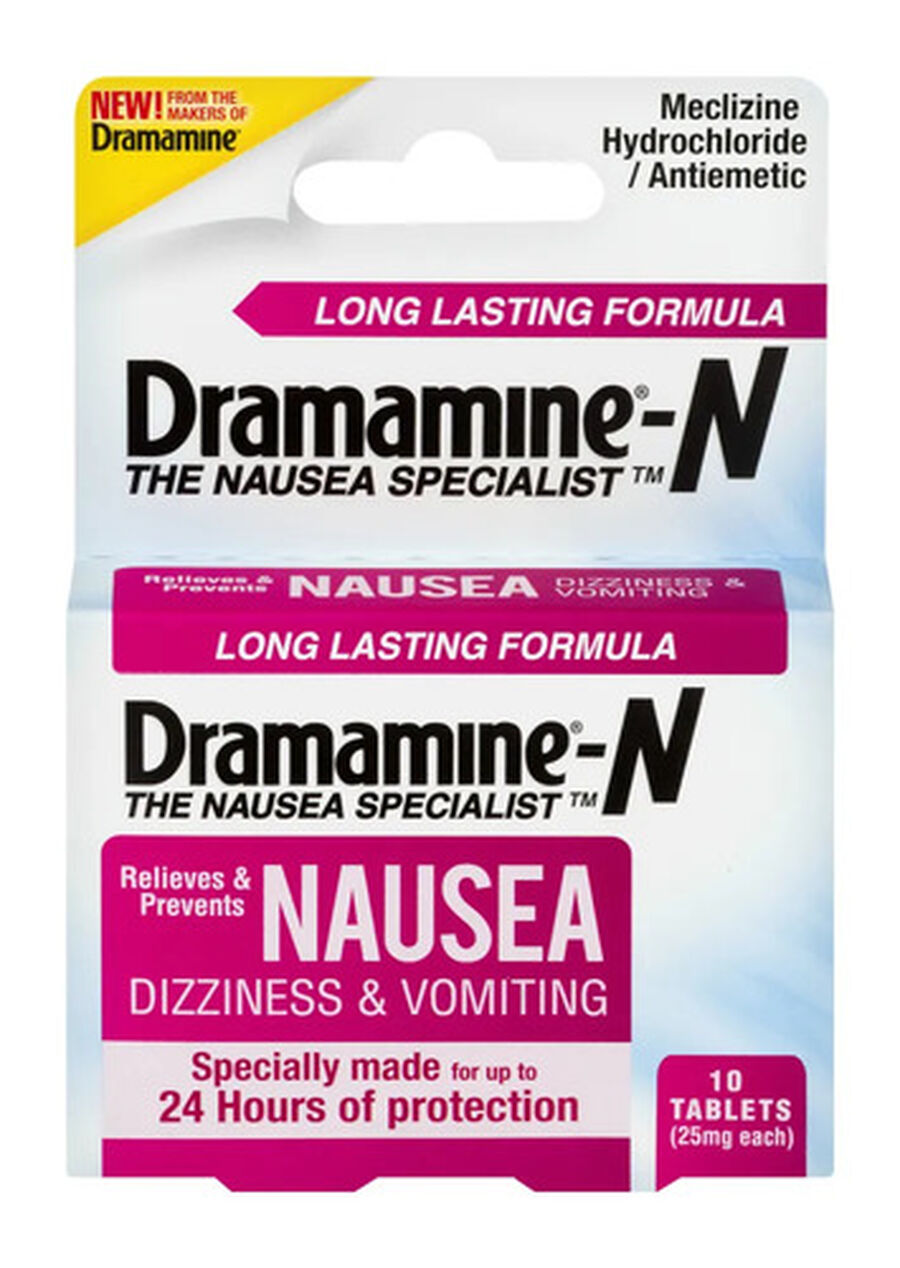 Dramamine Nausea Long Lasting Formula Tablets, 10 ct, , large image number 0