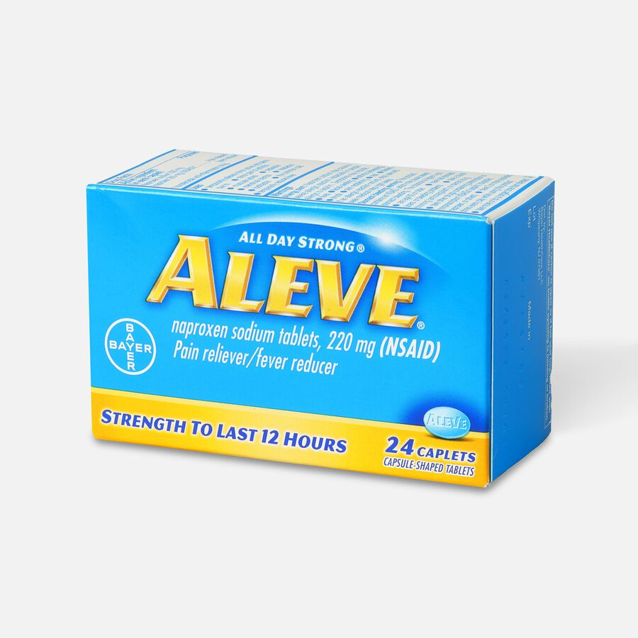 Aleve All Day Strong Pain Reliever, Fever Reducer, Caplet, 24 ea, , large image number 2
