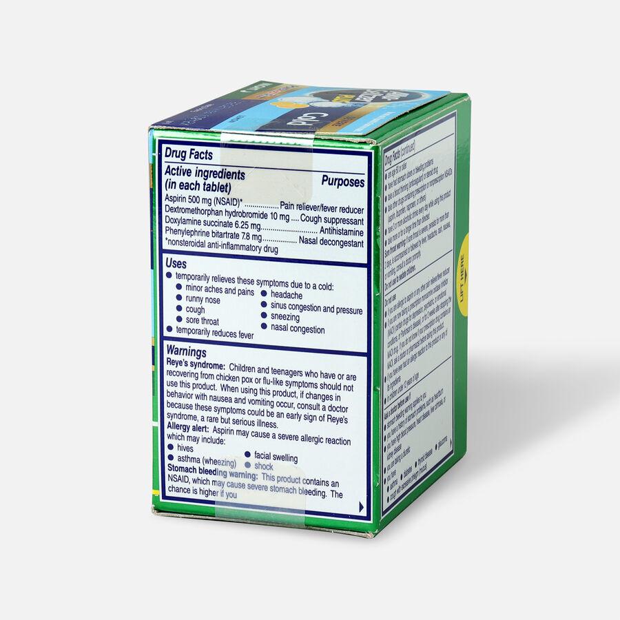Alka-Seltzer Plus Cold PowerFast Fizz Night-time Effervescent Tablets, Lemon, 20ct, , large image number 3