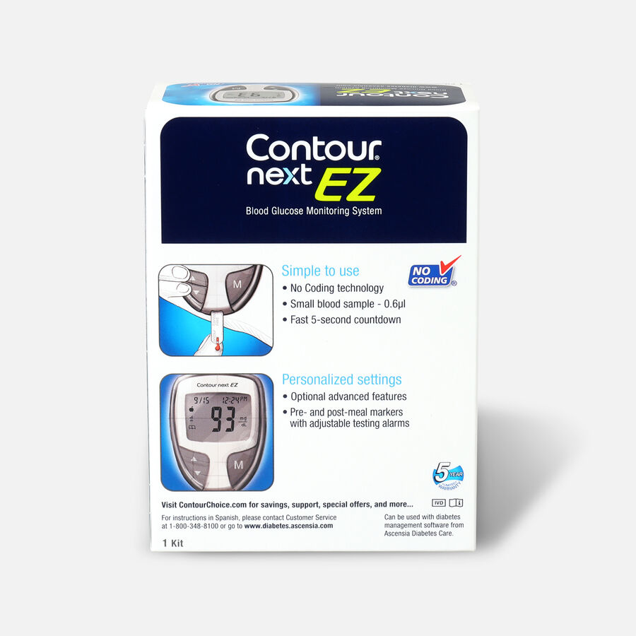 CONTOUR® NEXT EZ Blood Glucose Monitoring System, , large image number 1