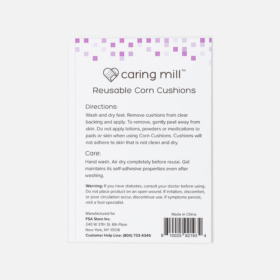 Caring Mill™ Reusable Corn Cushions 24 ct, , large image number 1