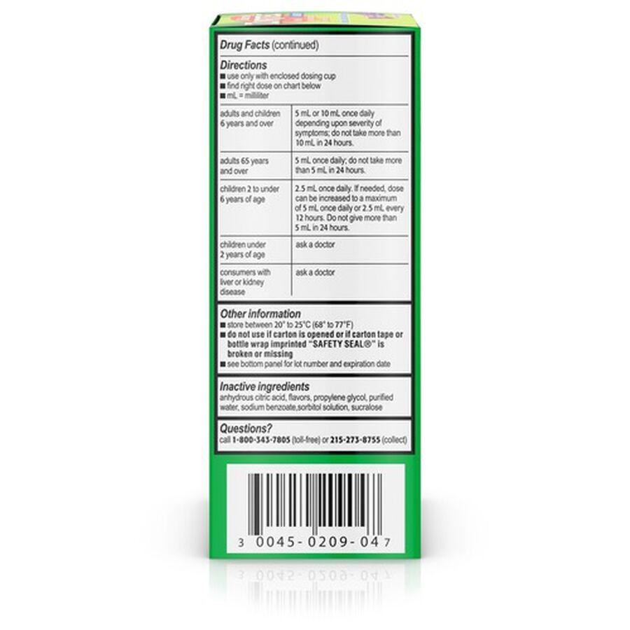 Zyrtec 24 Hr Children's Allergy Relief Syrup, Grape Flavor, 4 fl. oz, , large image number 1