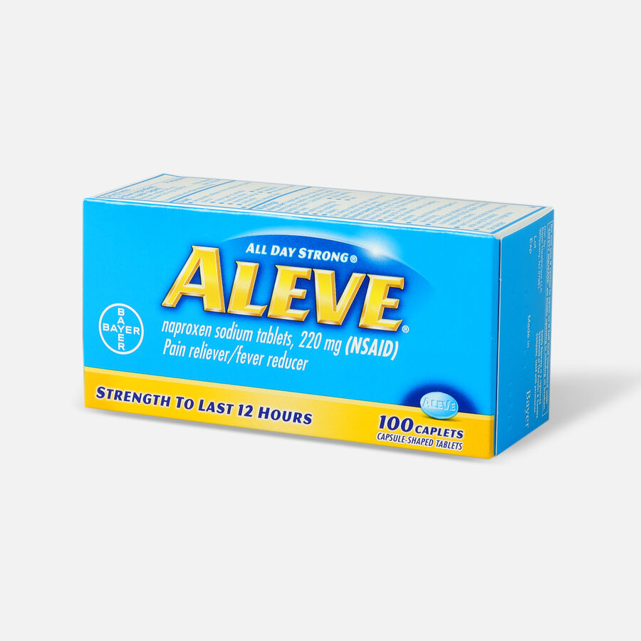 Aleve All Day Strong Pain Reliever, Fever Reducer, Caplet, 100 ea, , large image number 2