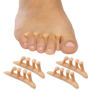 ZenToes Hammer Toe Straightener Crest with No Loop, Beige, 4 ct