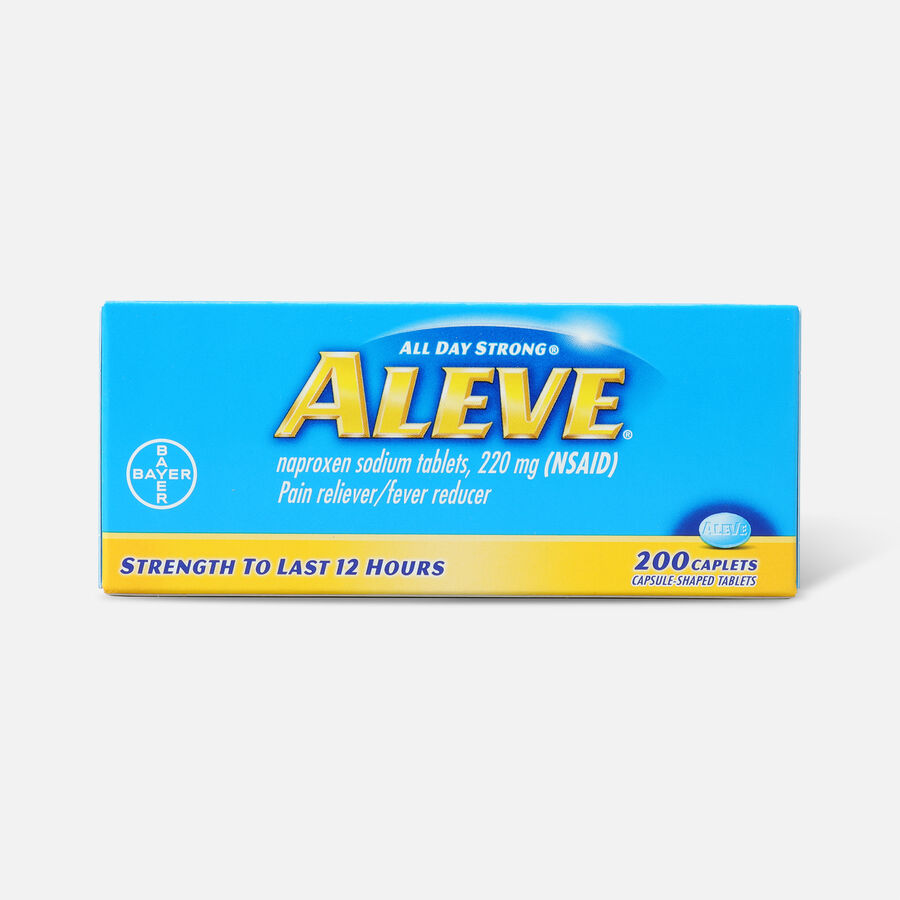 Aleve All Day Strong Pain Reliever, Fever Reducer, Caplet, 200 ea, , large image number 0