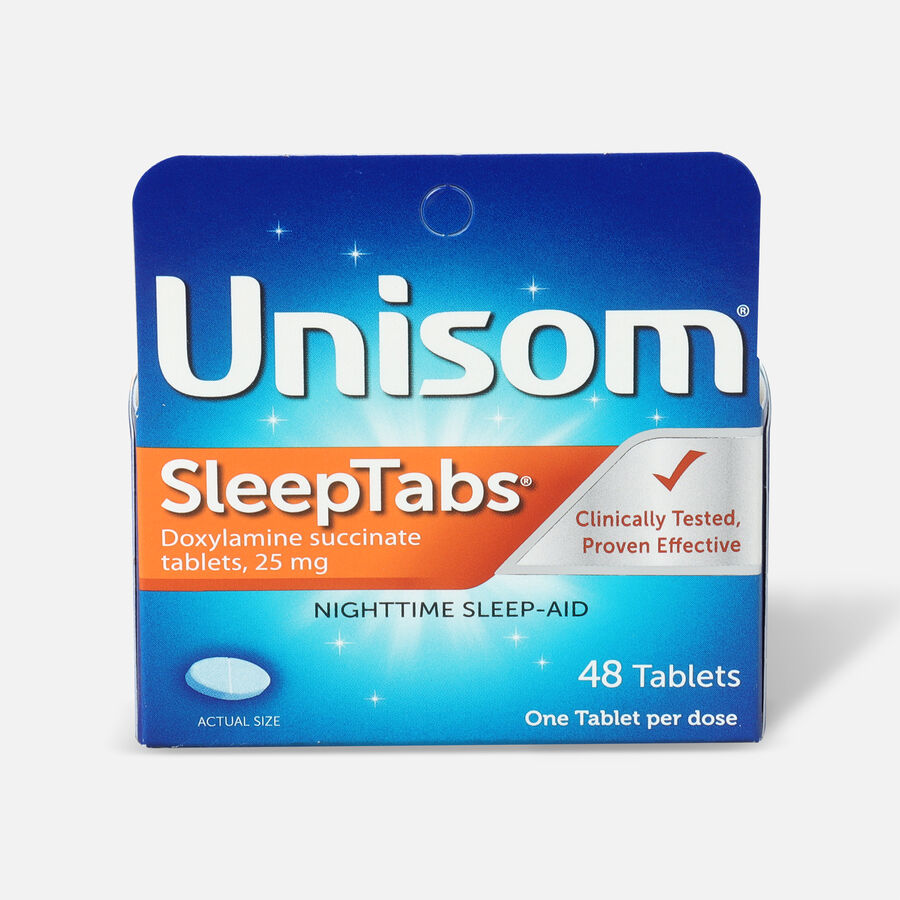 Unisom SleepTabs, Nighttime Sleep-Aid Tablets, 48 ea, , large image number 0