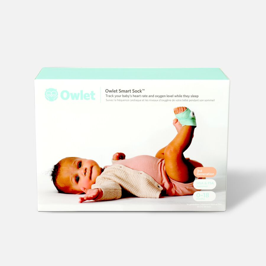 Owlet Smart Sock Baby Monitor-3rd Generation, Mint Green, Mint Green, large image number 1