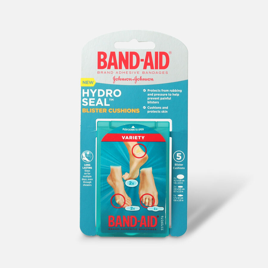 Band-Aid Hydro Seal Bandages Blister Cushion, Variety Pack 5 Count, , large image number 0