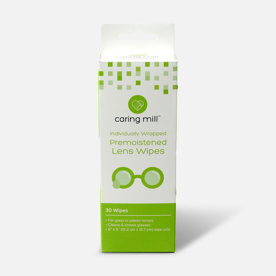 Caring Mill™ Pre-Moistened Lens Wipes, 30 count, , large image number 0