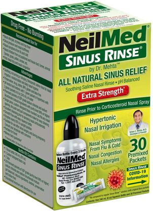 Sinus Rinse Hypertonic Kit With 30 Premixed Packets