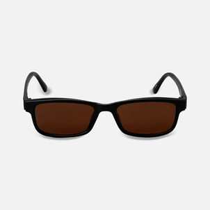 Sunglass Reader with Magnetic Detachable Polarized Lens, +1.50, Black/Brown