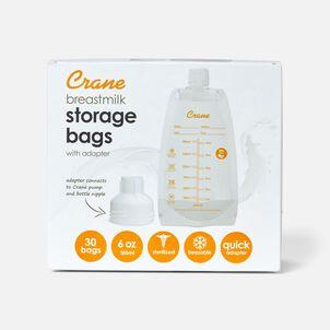 Crane Breast Milk Storage Bags, 6 oz