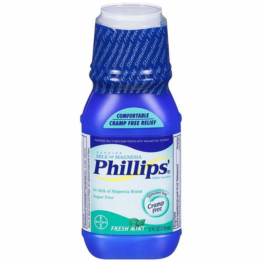 Phillips Milk of Magnesia, Fresh Mint, 12 oz, , large image number 1