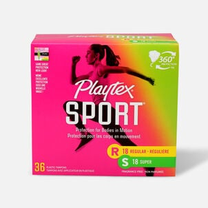 Playtex Sport Multipack Tampons, Unscented (Reg/Super)