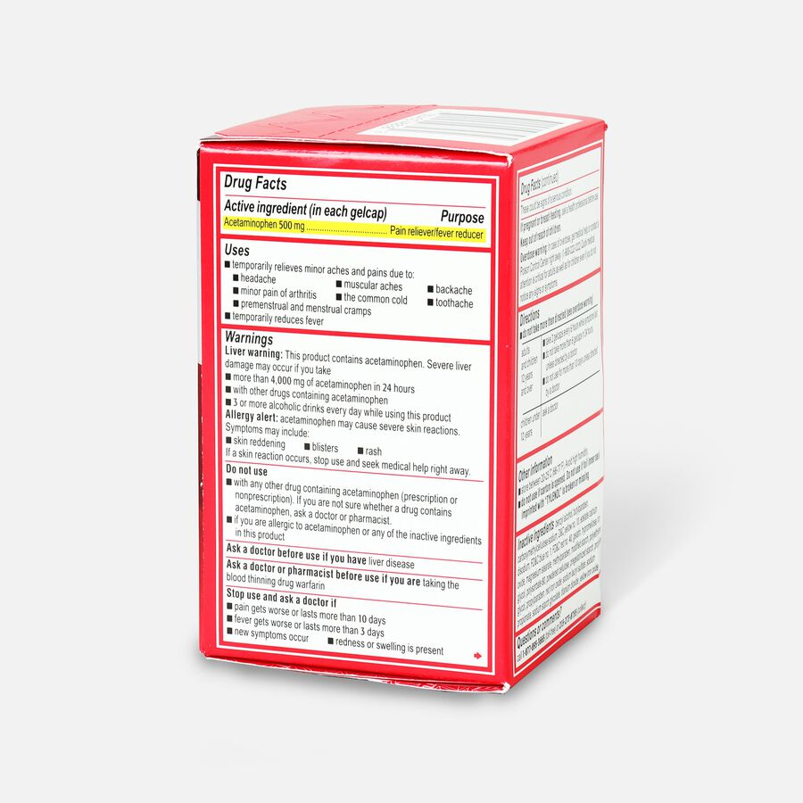 Tylenol Extra Strength Rapid Release Gels, 100 ct, , large image number 3