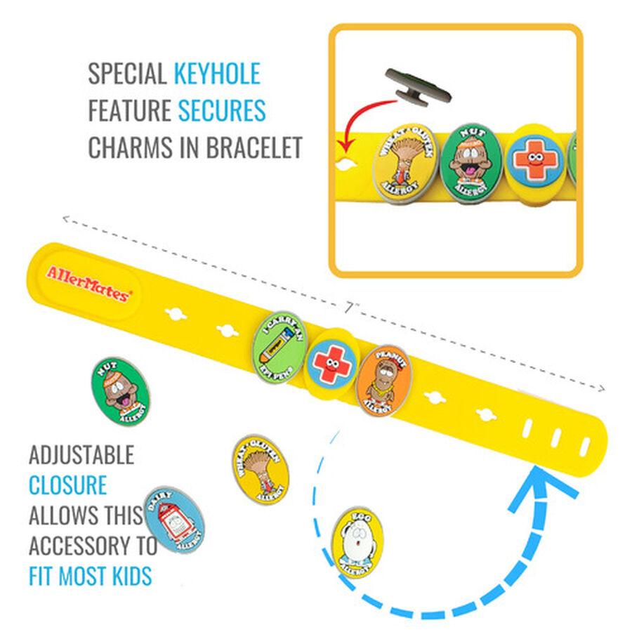 AllerMates Children's Allergy Charm Bracelet - Food Allergy, , large image number 1