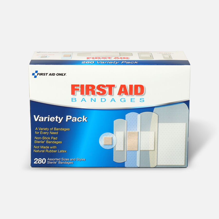 First Aid Only Sheer & Clear Bandage Variety Pack, Assorted Sizes - 280ct, , large image number 0